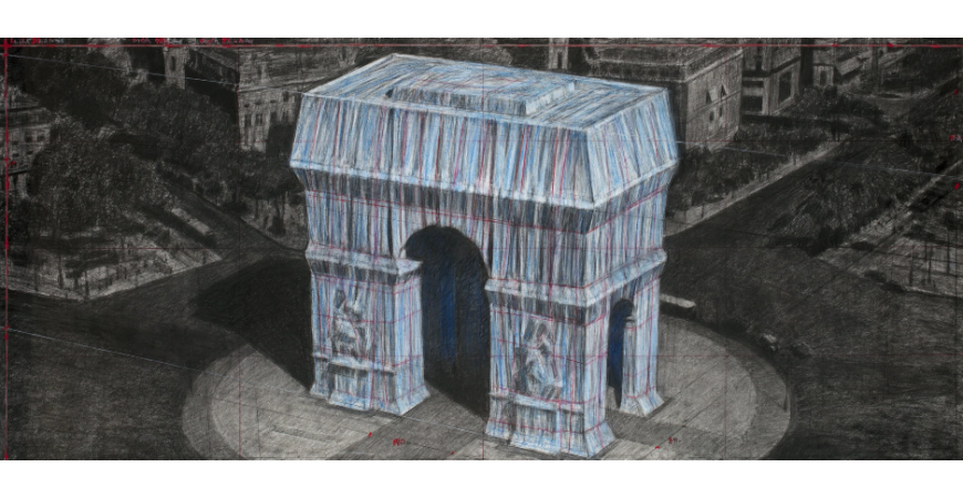 Modern art: the Arc de Triomphe Wrapped, by Christo
